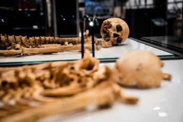 Danemark Deux guerriers vikings parents réunis 1000ans plus tard)