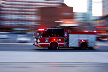 Incendie criminel dans une pizzeria de Montréal