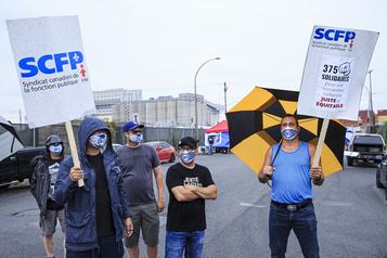 La grève au port de Montréal est déclenchée)