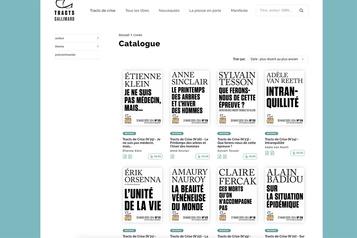 Les «tracts de crise» de Gallimard