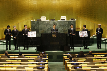 BTS à l'affiche de l'ONU sur le développement durable)