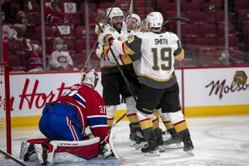 Fin du temps réglementaire Golden Knights 2 - Canadien 2)