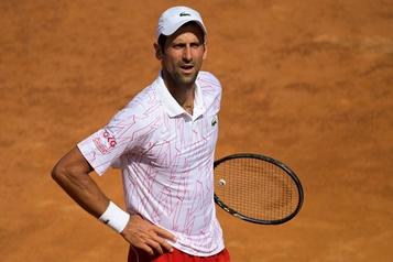 Djokovic plutôt courtois à son 1ermatch à Rome)