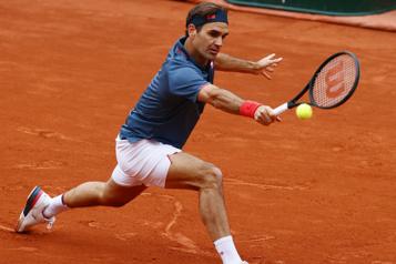 Roger Federer rate son retour sur terre battue)