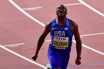 Le sprinteur américain Christian Coleman est suspendu pour avoir raté des tests)