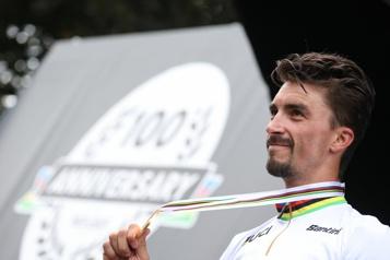 Cyclisme Julian Alaphilippe étrennera son nouveau maillot mercredi