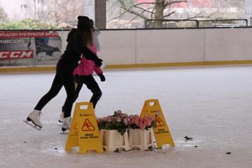 Une patinoire intérieure ou un commerce de fleurs ? )