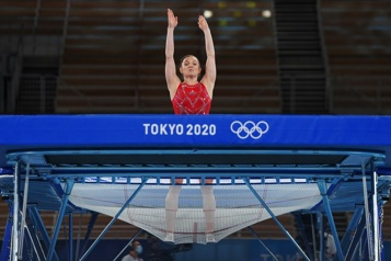 Trampoline Rosie MacLennan termine au quatrième rang)