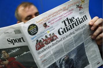 Le quotidien britannique The Guardian va supprimer jusqu'à 180 postes)