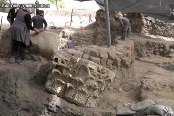 Israël dévoile les vestiges d'une basilique vieille de 2000 ans)