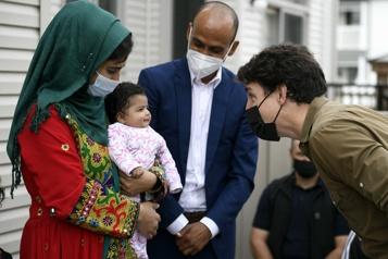 Justin Trudeau rencontre des réfugiés afghans