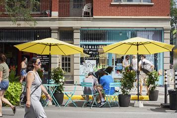 Ville de Montréal  En vidéo : piétonniser les rues pour soutenir la vitalité commerciale)