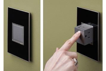 La bonne idée: une prise électrique rétractable)