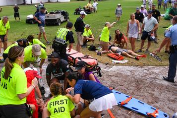 Six blessés pendant un orage lors du Championnat de la PGA