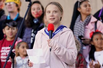 Greta Thunberg transporte son combat à Edmonton