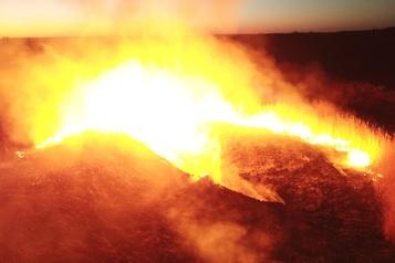 Incendie de forêt près de Tchernobyl