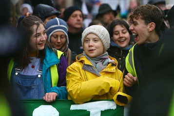 En Angleterre, Greta Thunberg appelle les jeunes à agir