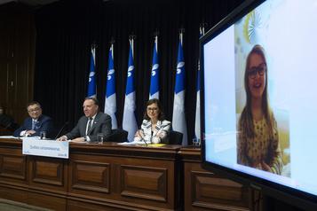 François Legault: «On est en train d'atteindre le sommet»