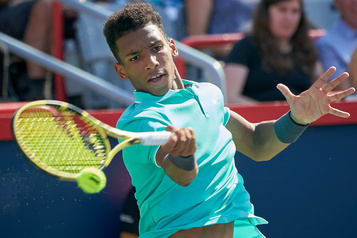Félix Auger-Aliassime au Ultimate Tennis Showdown)
