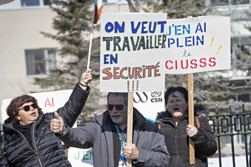 Actes de violence: le personnel de l'Hôpital Albert-Prévost manifeste