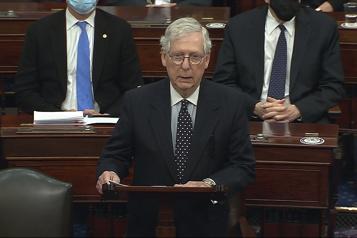 Assaut du Capitole Trump a «incité» la foule, accuse le chef républicain du Sénat)
