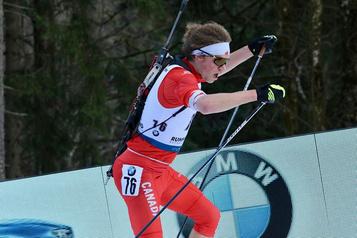 Le biathlonien Jules Burnotte en route pour les sélections à Canmore )