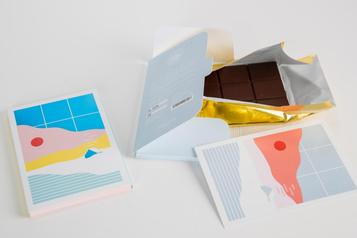 Une carte de souhaits chocolatée