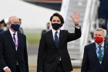 Sommet du G7 Justin Trudeau arrive au Royaume-Uni)