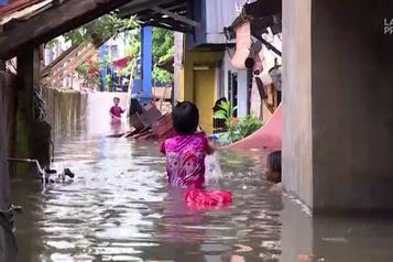 Pluies torrentielles en Indonésie, plusieurs quartiers inondés