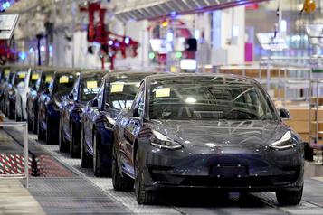 Tesla bondit à Wall Street grâce à sa production au premier trimestre