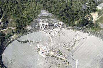 L'observatoire d'Arecibo ne fermera pas après l'effondrement du radiotélescope )