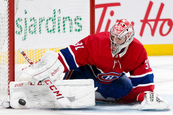 Carey Price devant le filet contre les Penguins