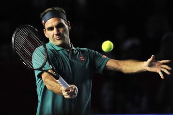 Une pièce de monnaie à l'effigie de Roger Federer