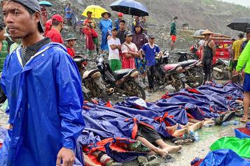 Birmanie: plus de 120 mineurs tués dans un glissement de terrain)