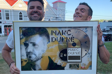 Un disque d'or pour Marc Dupré