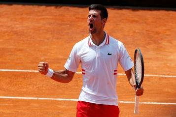 Tournoi de Rome Novak Djokovic accède aux demi-finales en battant Stefanos Tsitsipas)