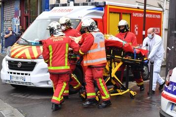Quatre blessés dans une attaque à l'arme blanche à Paris)