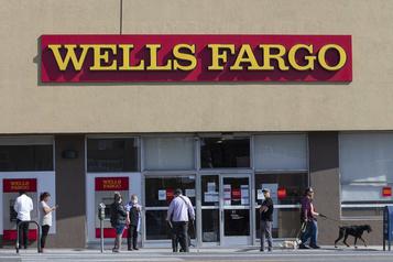 Wells Fargodans le rouge à cause d'énormes provisions)