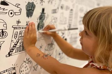 La bonne idée Pour dessiner sur les murs )