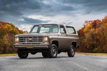 Chevrolet  Chevrolet électrifie un vieux Blazer1977)