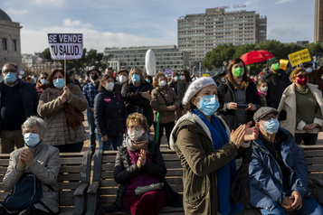 Espagne Manifestation en faveur du système de santé publique à Madrid)