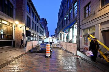 Un chantier s'éternise dansle Vieux-Montréal