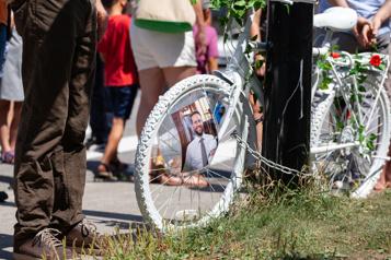 Mort de Louis Morency Un vélo fantôme installé sur l'avenue Christophe-Colomb)