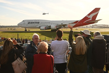 Qantas remise son dernier «Jumbo jet»)