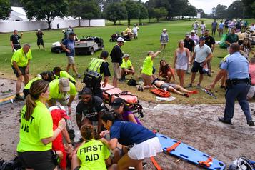 Cinq blessés pendant un orage lors du championnat de la PGA