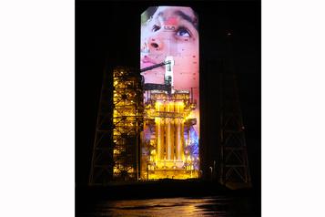 Une projection 3D à Cap Canaveral pour le Québécois Philippe Bergeron)