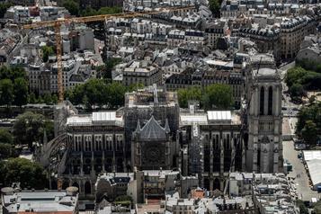 Notre-Dame de Paris: une cathédrale «conforme» àl'originale, trancheMacron)
