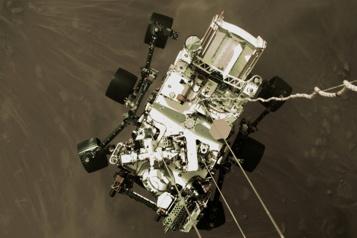 Planète Mars Spectaculaires images de l'atterrissage de Perseverance)