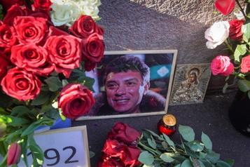 Russie Rassemblement à la mémoire de l'opposant assassiné Boris Nemtsov)