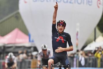 Giro d'Italie Geoghegan Hart remporte la 15eétape )